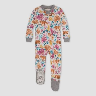 Burt's Bees Baby® Baby Girls' Fox Snug Fit Footed Pajama - Heather Gray 6-9M