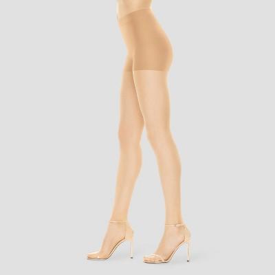 Women/'s Hanes Premium Silky Ultra Sheer Control Top Toeless Hosiery Nude Xxl