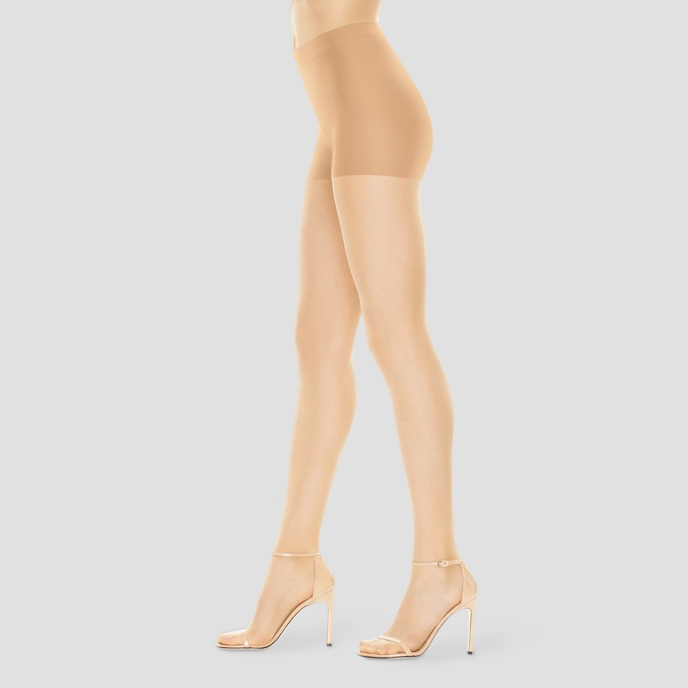 Hanes Premium Women 39 S Perfect Nudes Control Top Silky Ultra Sheer Pantyhose Buff L