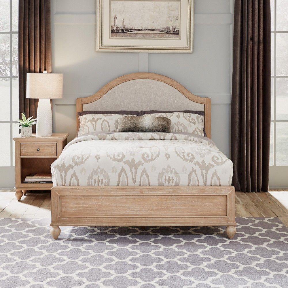 Home Styles Queen Cambridge Bed & Night Stand White Wash
