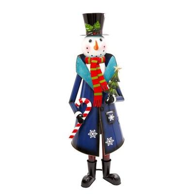 "59"" Metal Snowman Decorative Figurine - Gerson International"