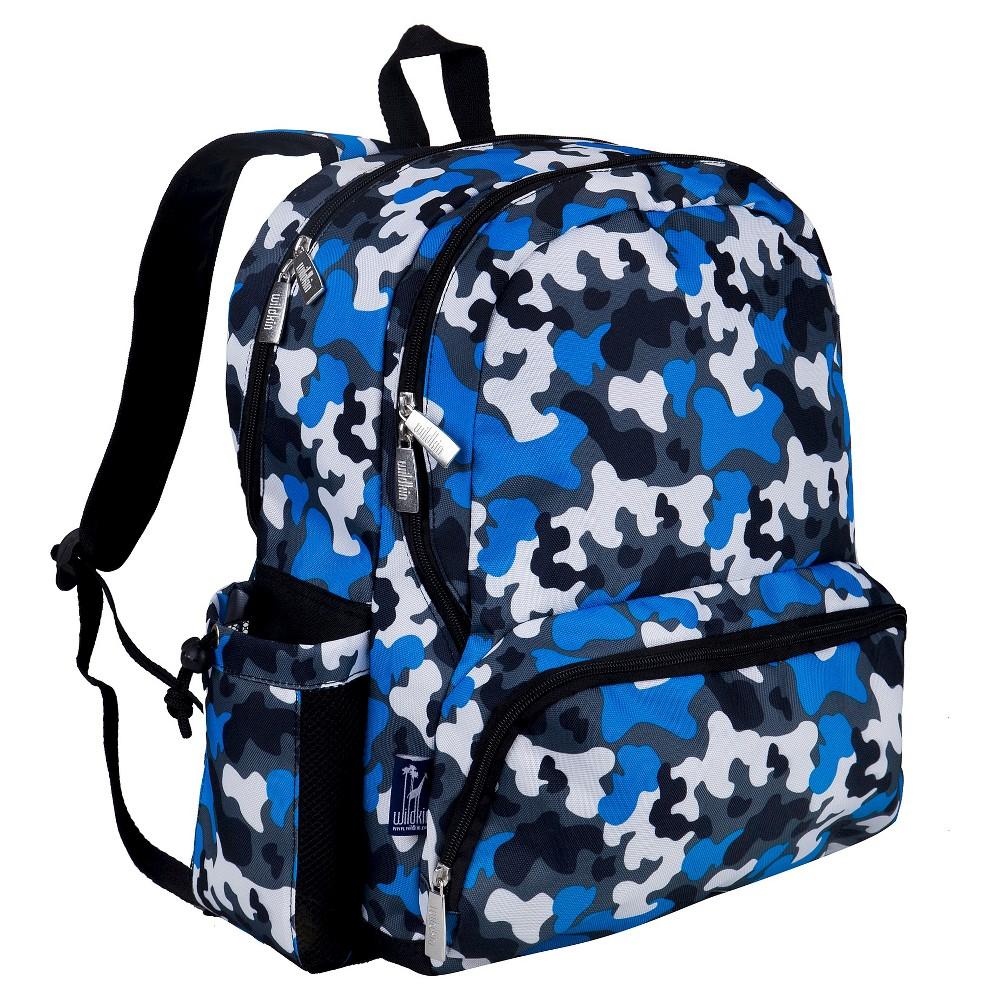 """Image of """"Wildkin 17"""""""" Camo Megapak Kids' Backpack - Blue/Black"""""""