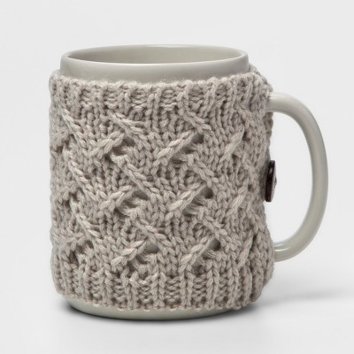 9.9oz Stoneware Sweater Mug Gray - Threshold™