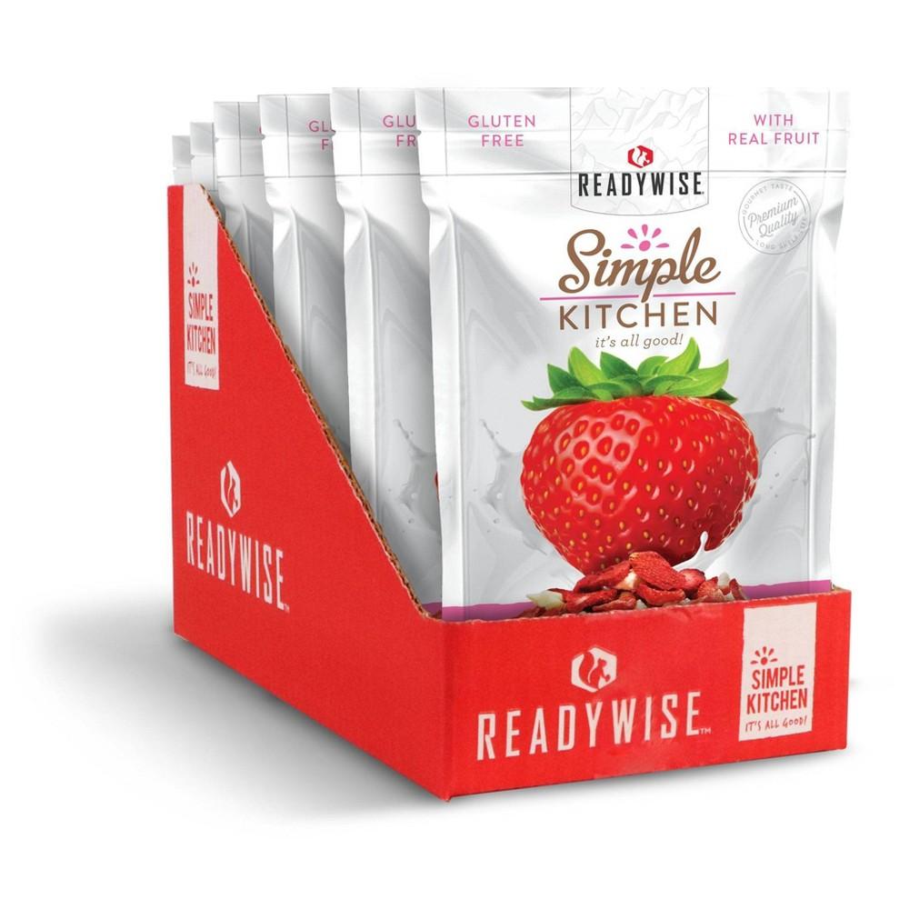 Readywise Simple Kitchen Strawberries 38 Yogurt Freeze Dried Fruit 6ct Case