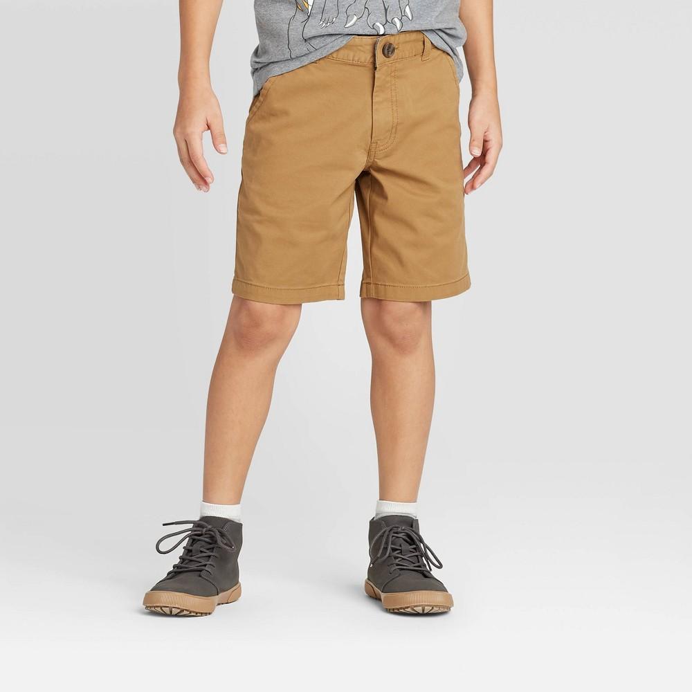 Boys 39 Stretch Flat Front Chino Shorts Cat 38 Jack 8482 Dark Khaki 10