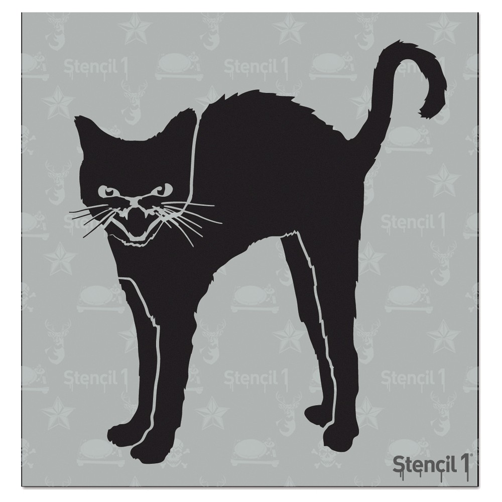 Stencil1 Black Cat - Stencil 5.75