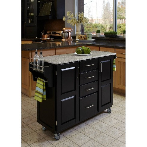 Kitchen Carts And Islands Granite Top Black Home Styles