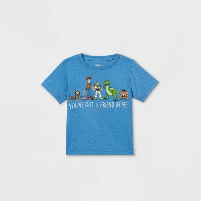 Toddler Boys' Toy Story 'Friend In Me' Short Sleeve Graphic T-Shirt - Blue