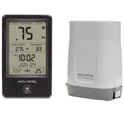 Wind & Weather Acurite Digital Rain Gauge with Self-Emptying Remote Collection Unit