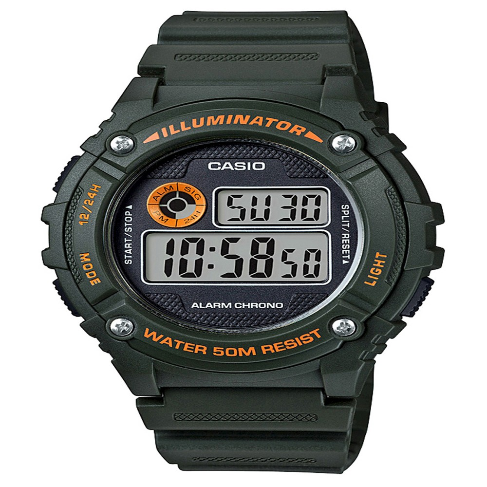 Men's Casio Digital Watch - Green, Size: Mens