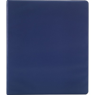 Staples Simply 3-Inch Round 3-Ring Non-View Binder Navy (26595) 26595-CC