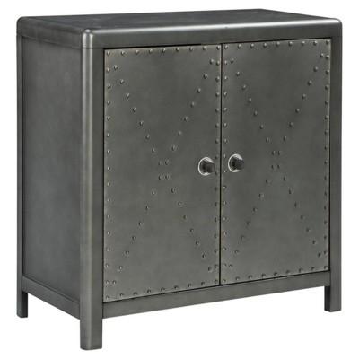 Rock Ridge Medium Accent Cabinet Gunmetal Finish - Signature Design by Ashley