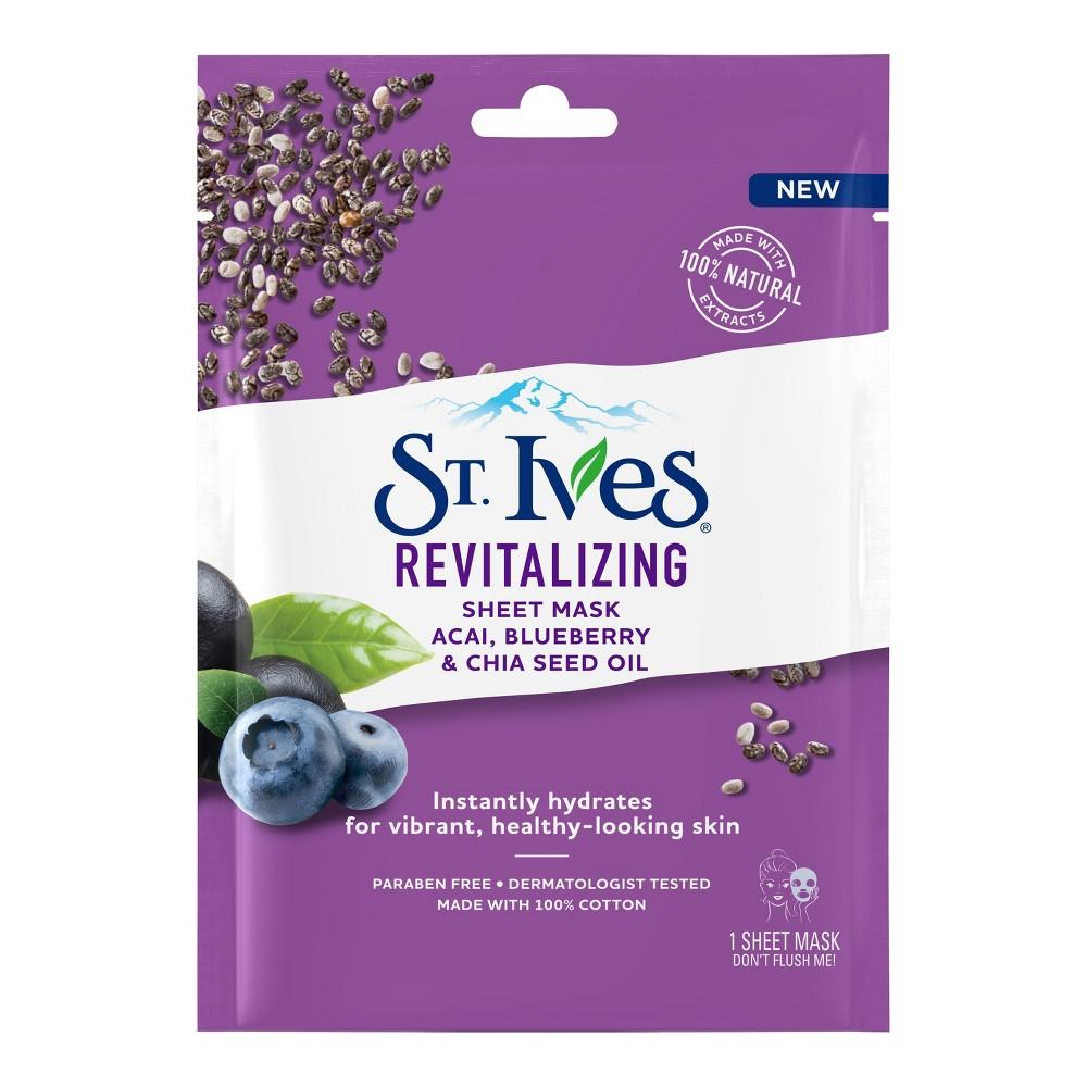 St. Ives Revitalizing Acai Sheet Mask - 1ct