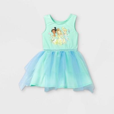 Toddler Girls' Disney Princess Knit Sleeveless Dress - Green