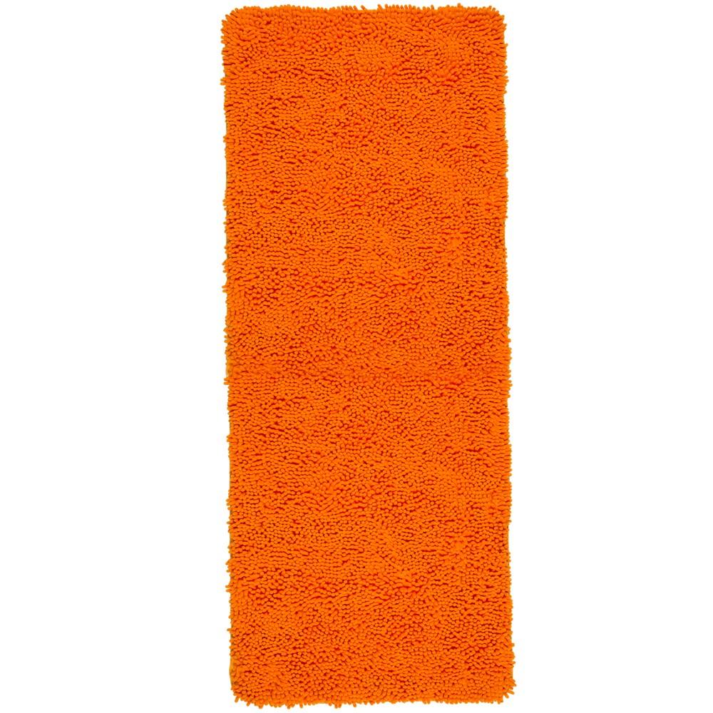 Solid Memory Foam Shag Bath Mat Orange - Yorkshire Home