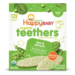 HappyBaby Pea & Spinach Organic Teethers - 0.14oz/12pk Each