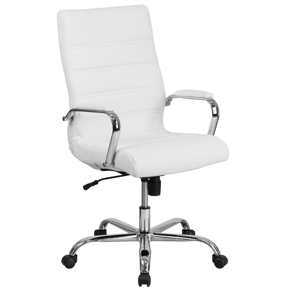 High Back Chair White - Riverstone Furniture Collection