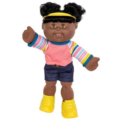 "Cabbage Patch Kids - 14"" Sporty Girl Doll - Dark Brown Eyes"