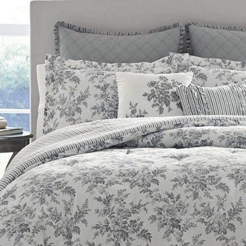 Gray Annalise Comforter Set Laura Ashley Target