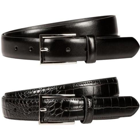 Men's Bill Adler 2 For 1 Crocodile/Smooth Belts - image 1 of 1