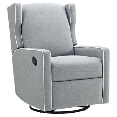 Baby Relax Swivel Gliding Recliner - Gray