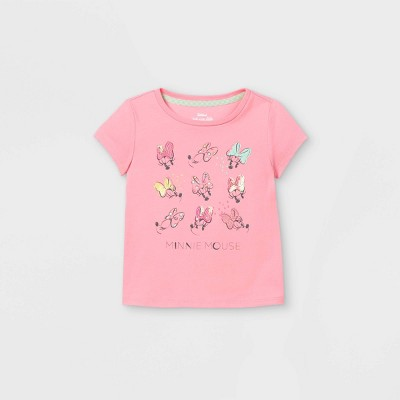 Toddler Girls' Minnie Mouse Sequin Short Sleeve Graphic T-Shirt - Pink