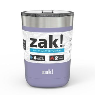Zak! Designs 13oz Double Wall Stainless Steel Low Ball Tumbler - Black