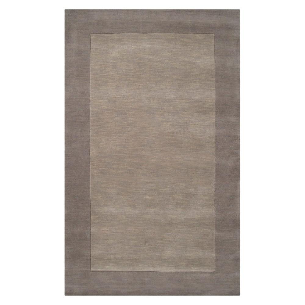 Gray Solid Woven Area Rug - (6'X9') - Surya