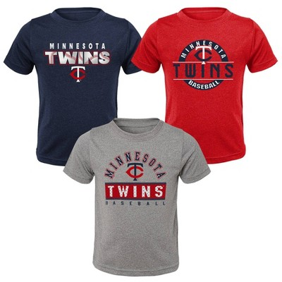 MLB Minnesota Twins Toddler Boys' 3pk T-Shirt Set