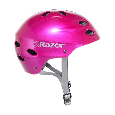 Razor 97956 V-12 Youth Kids Safety Multi Sport Bicycle Helmet For Children with 17 Cooling Vents, Adjustable Strap, and Padding, Pink