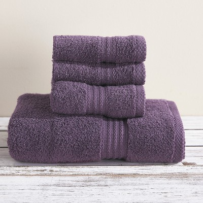 Lakeside 100% Cotton Zero-Twist Bath Towel, Hand Towel, Washcloth Set
