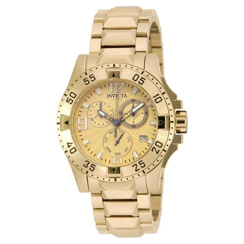 Women's Invicta 16102 Excursion Quartz Chronograph Gold Dial Link Watch - Gold - image 1 of 1