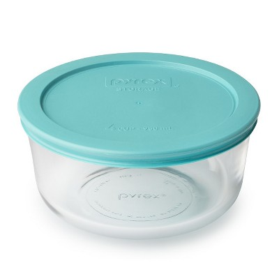 Pyrex 4 cup Food Storage Container Turquoise