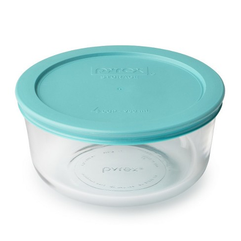 Pyrex 4 cup Food Storage Container Turquoise - image 1 of 1
