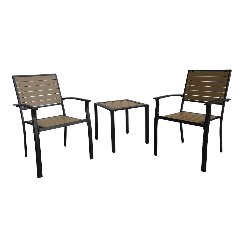 Image of Harrington Everwood 3pc Bistro Set - Liberty Garden Patio