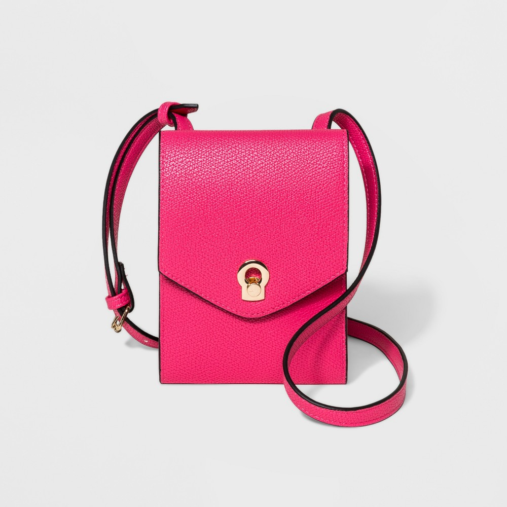 Women's String Wallet - A New Day Pink Punch