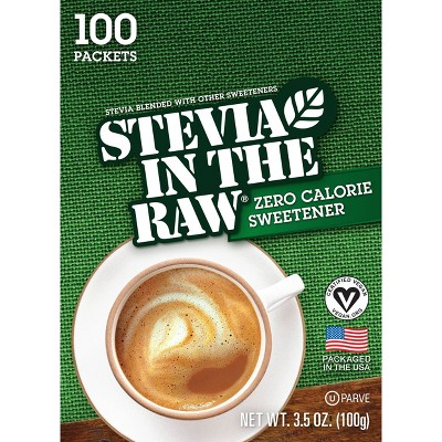 Stevia In The Raw Zero Calorie Sweetener Packets - 100ct/3.5oz