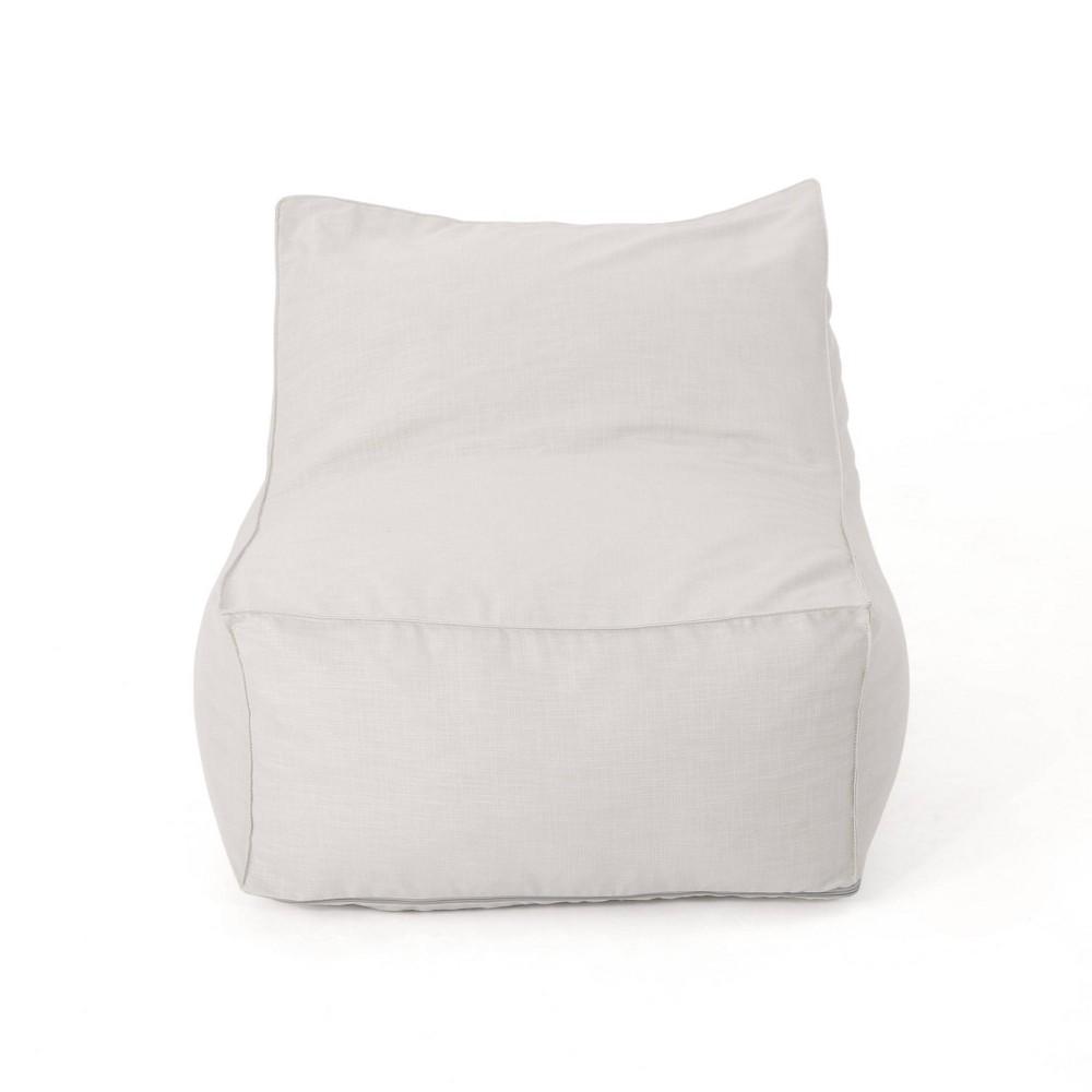 "Image of ""3"""" Henrietta Bean Bag Chair Khaki - Christopher Knight Home, Green"""