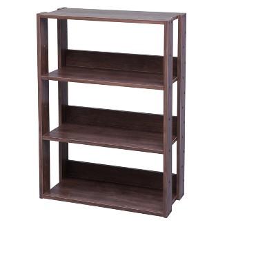 IRIS Wide Open Wood Rack Shelf Brown