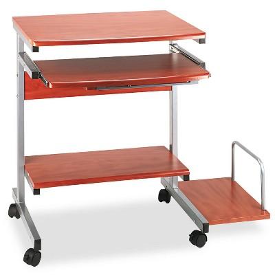 Mayline Portrait PC Desk Cart Mobile Workstation 36-1/2w x 19-1/4d x 31h Medium Cherry 946MEC