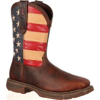 Men's Rebel by Durango Steel Toe Flag Western Flag Boot