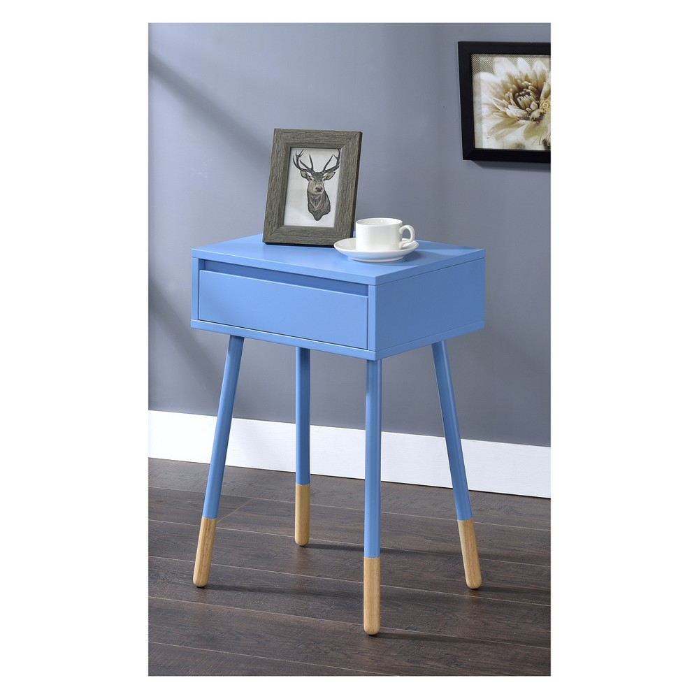 Vallejo Modern Style Side Table Blue - Homes: Inside + Out