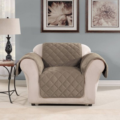 Suede Microfiber Recliner Furniture Protector Cover - Sure Fit