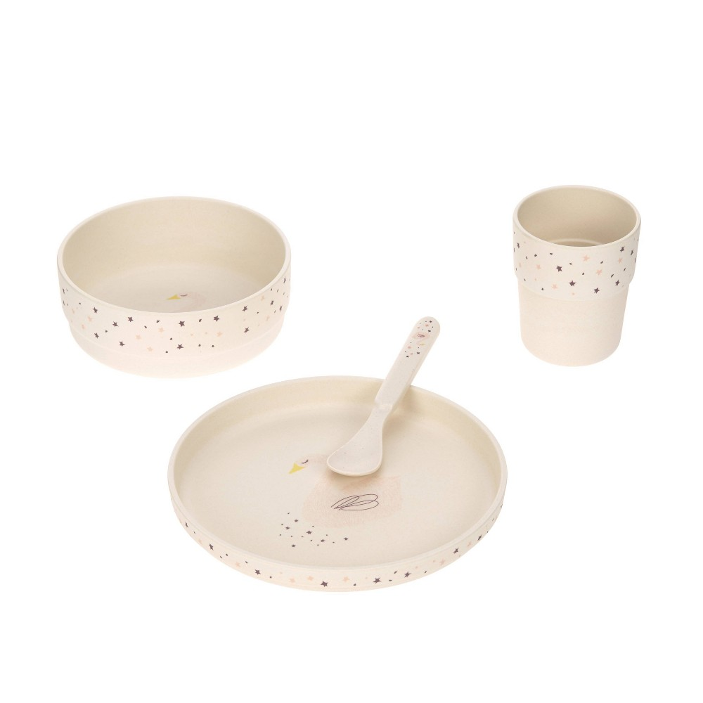 Image of Lassig Bamboo Dish Set - 4pc Little Water Swan