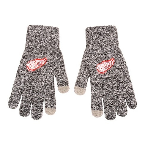 NHL Detroit Red Wings Gray Knit Gloves - image 1 of 1