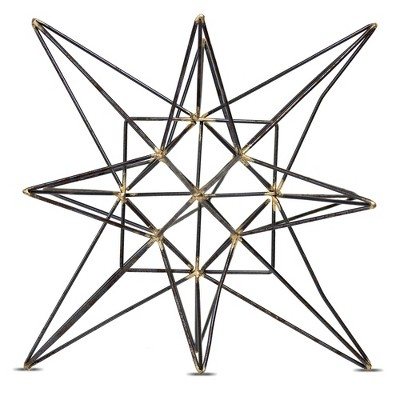 Star Figurine Metal Tabletop Décor In Steel Finish - Gray (8.86 x9.84 x8.86 )