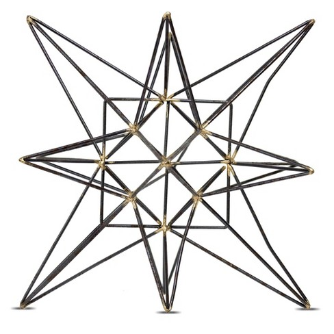 "Star Figurine Metal Tabletop Décor In Steel Finish - Gray (8.86""x9.84""x8.86"") - image 1 of 5"