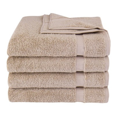 4pc Villa Bath Towel Set Beige - Royal Turkish Towel