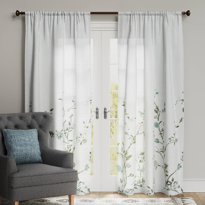 Climbing Floral Light Filtering Window Curtain Panel - Threshold™