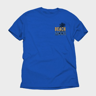 Men's Beach Mode Short Sleeve Graphic T Shirt   Royal Blue by Dynasty Apparel